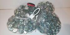 New Decorative Glass Stones Shapes Clear Flat Round Vase Garden Craft Arts 2kg
