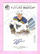 2017-18 SP AUTHENTIC Future Watch Auto Vince Dunn RC #879/999