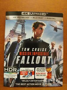 V283 MISSION: IMPOSSIBLE FALLOUT 4K Ultra HD + Blu-ray + Digital + Slipcover NEW