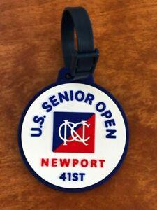 RARE! Golf Bag Tag 41st U.S. Men's Senior Open Newport Country Club, Luggage Tag