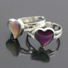 Heart Colour Changing Mood Ring Adjustable One Size For Ladies/Child Charm