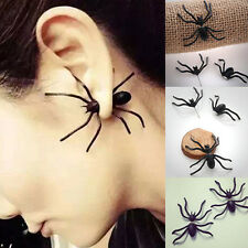Hot Sale Fashion Jewelry Cool Black Spider Stud Earrings Gift For Women Girls