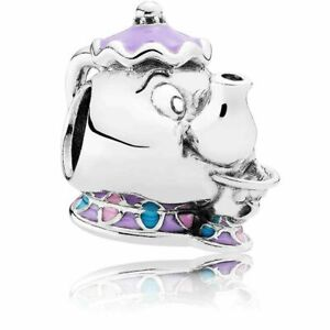Genuine Pandora S925 Silver ALE Disney Mrs Potts Chips 792141ENMX PC19