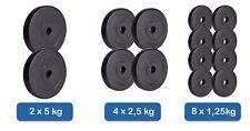 Set C Kunststoff Hantelscheiben Gewichte (8x1,25kg+4x2,5+2x5kg) HS
