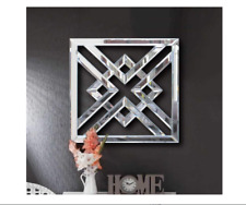 Small Silver Glam Accent Wall Mirror Modern Contemporary Hall Decorative Art New