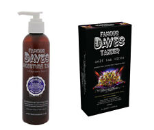 FAMOUS DAVE'S MOISTURE TAN SELF TANNER LOTION FRAGRANCE-FREE + 5-PACK WIPES