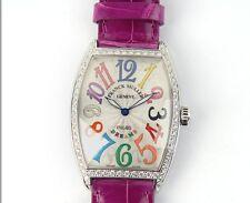 New Franck Muller 2852 QZ D 1R COL DRM Color Dreams Diamond Watch