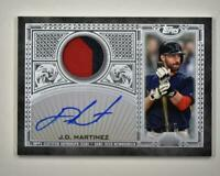 2020 Topps Series 2 Reverence Auto Patch Relic Silver #TRAPJMA J.D. Martinez 2/5
