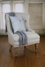 Bedroom Chair French Provincial USA Oak 100% Linen Comfortable Chair BRAND NEW