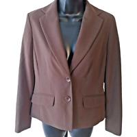 NEW $129 Liz claiborne Women's Petite Brown Stretch Suit Blazer Jacket size 4