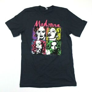 Madonna Rebel Heart Tour Itinerary Tee - Canvas - Blue - S