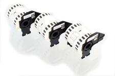 3x Rouleau Etiquettes Premium 62mm x 15,24m pour Brother DK-22212