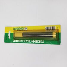 Vintage Wizard Watercolor Marker Blue Broad Chisel Tip Penn Manufacturing USA