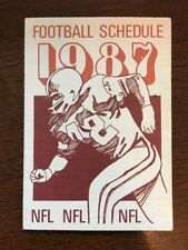 Full 1987 NFL Pro Football Schedule by American Security D8