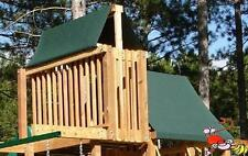 CUSTOM SIZE PLAYSET CANOPY/TARP ~GREEN, up to 6FT LG - Outdoor Playset/Swingset