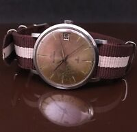 "Bucherer Vintage Men's 25 Jewels Stainless Steel Automatic ""Monocoque"" Case Runs"