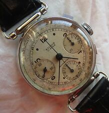 Valjoux 71 Chronograph mens wristwatch nickel chromiun case swing lugs 36,5 mm.