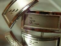 Wonderful Vintage 1970's Silver Filled Cuff Links - Classy HIGH END  137JL9