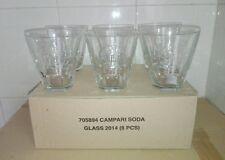 Set Confezione N6 Bicchieri Pubblicitari in Vetro Aperitivo Campari Soda Nuovi