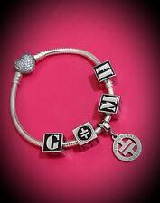 TAKE THAT - GARY - MARK - HOWARD Artist Initials Bead for Bracelet or Pendant