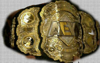 Replica AEW World Championship Wrestling Leather Belt, 2mm Plates