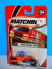 Matchbox 2001 Earth Crunchers Series #36 Road Roller Paver Orange