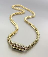 """CLASSIC Designer 18kt Gold Plated 20"""" Cable Chain Magnetic Clasp Necklace 4363"""