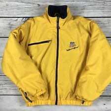 Union Pacific Railroad Millennium Bound Yellow Jacket Fleece Lined, Zipper Sz XL