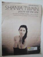 SHANIA TWAIN YOU'RE STILL THE ONE SHEET MUSIC 1997 GUITAR, VOCAL PIANO