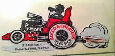 Rocco & Cheaters speed shop sticker decal hotrod vintage look car truck dragrace