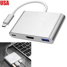 Type C USB 3.1 to USB-C 4K HDMI USB3.0 Adapter 3 in 1 Hub For Samsung Galaxy S8