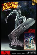 """Firmada """"Stan Lee"""" Sideshow Exclusive Silver Surfer Comiquette Estatua fantástico"""