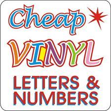 Signs Self Adhesive Vinyl Lettering & Numbers