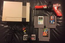 Nintendo Entertainment System NES, W Cables, Controllers And 3 Games.