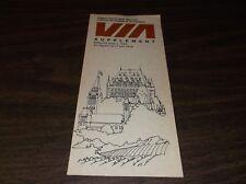 JUNE 1978 VIA RAIL CANADA ONTARIO-QUEBEC SERVICES SUPPLEMENT TIMETABLE
