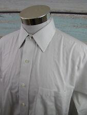 Brooks Brothers Non Iron White Gray Stripe French Cuff Dress Shirt Men 15.5 - 33