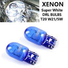 2 x Vauxhall INSIGNIA 580 7443 W21/5W T20 DRL Bulbs WHITE Daytime Running Lights