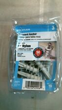 Hilman 41409 #8 Nylon Wallboard Anchors, Holds up to 50lbs. Free Shipping