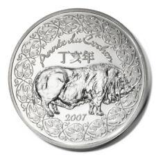 France Year of the Pig Jean de la Fontaine 1/4 Euro 2007 BU Silver Crown KM1417