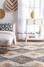4 X 6' Cotton Dhurrie Floor Jute Mat Hand Crafted Decor Carpet Weave Rag Rug Mat