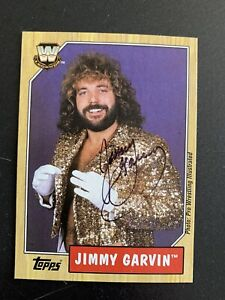 WWF WWE Topps Heritage 3 Trading Card Jimmy Garvin SIGNED Rare