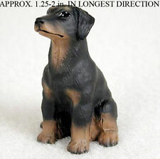 Doberman Pinscher Mini Hand Painted Figurine Black Uncropp