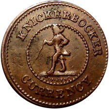 1863 Knickerbocker Currency For Public Accomodation Patriotic Civil War Token