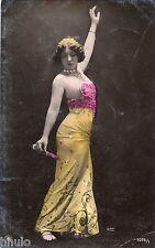 BE643 Carte Photo vintage card RPPC Femme woman danseuse reutlinger flamenco