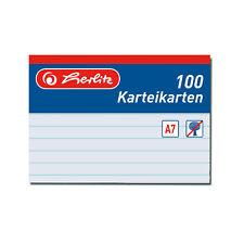 1000 Karteikarte Karteikarten A7 liniert weiss Herlitz
