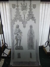 Brass rubbing ASHBY ST. LEDGERS NORTHANTS WILLIAM & MARGARET CATESBY 1494 .58B/3