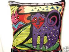 Laurel Burch Friends Amazoni Jungle Safari Decorative Tapestry Throw Pillow NWT