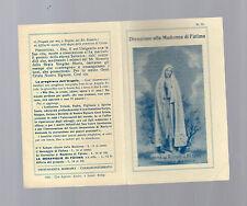 santino divozione alla madonna di fatima 1942 con preghiera e novena