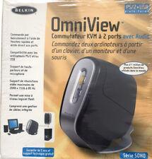 Belkin Soho OmniView 2-port KVM Switch DVI With Audio - Model F1dd102u
