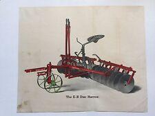 1917 Emerson Brantingham Disc Harrow Farm Equipment Agriculture Print